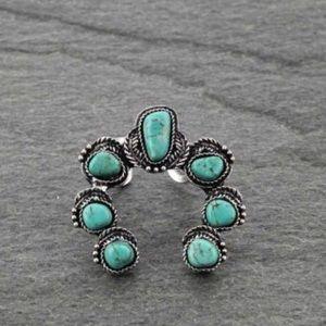 Squash Blossom Natural Stone Ring.